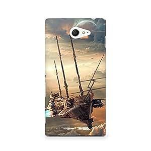 MOBICTURE Graphic Premium Designer Mobile Back Case Cover For Sony Xperia M2 S50h