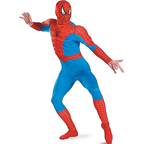 Spider-Man Classic Muscle Costume - X-Large - Chest Size 42-46