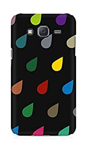 Amez designer printed 3d premium high quality back case cover for Samsung Galaxy J5 (Colorful Raining drops)