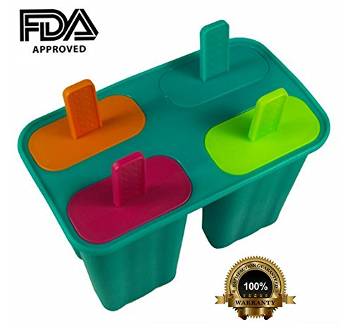 LifeGlow Silicone Ice Pop Molds