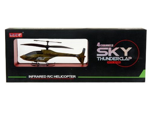 HCW 531 Mini 4-Channel Aluminum RC Helicopter with Flashlight, Gyroscope (Camouflage)