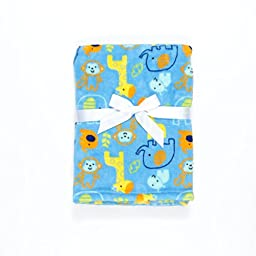 Baby Gear Plush Velboa Ultra Soft Baby Boys Blanket 30 x 40, Animal Buddies