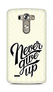 AMEZ never give up Back Cover For LG G3