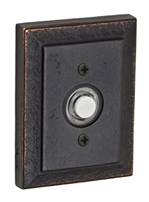 Fusion Hardware BEL-T9-DRB American Relic Collection Ahwahnee Doorbell, Dark Bronze, 1-Pack