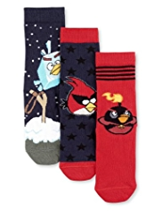3 Pairs of Cotton Rich Angry Birds™ Socks