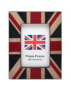 Union Jack Wooden Photo Frame For 6x4 Photo - BNWT