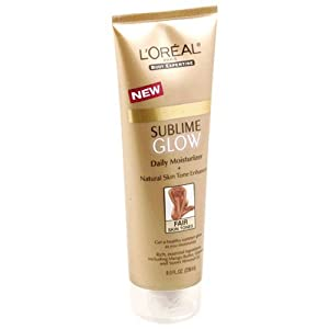 L'Oreal Sunless Sublime Glow Daily Moisturizer, Fair Skin Tones 8 fl oz (236 ml)
