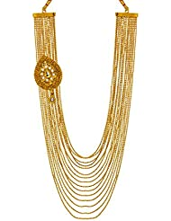 Bindhani Traditional Kundan Antique Gold Plated Multi-Strand Necklace For Women & Girls