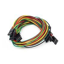 SeeedStudio - 4 Pin Dual-Female Jumper Wire - 300mm (5 Pcs Pack) - DIY Maker Open Source BOOOLE