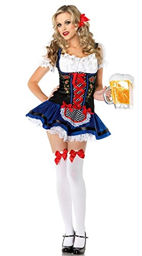 Oktoberfest Beer Festival Beer Girl Maidservant Cosplay Party Costume Dress Clothes ...