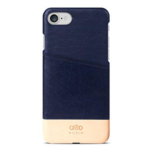 【日本正規代理店品】alto Metro Leather Case iPhone 7ケース Navy/Original 本革 レザー カード収納 C7MET-NAO