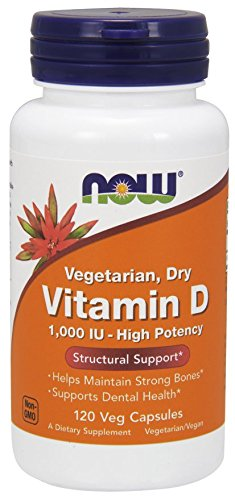 NOW Foods Vit D-2 1000Iu High Potency, 120 Vcaps