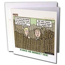 Rich Diesslin KNOTS Scout Cartoons - Coin Collecting - Badge or Hobby - Greeting Cards-6 Greeting Cards with envelopes
