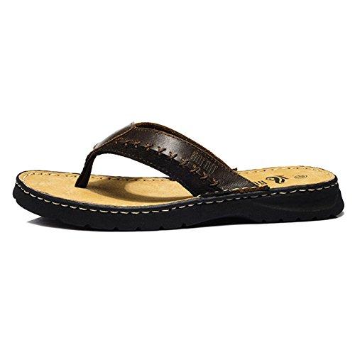 Pantoufles de casual hommes Europe summer fashion/M pantoufles en cuir/Sandales et pantoufles/pantoufles de plage
