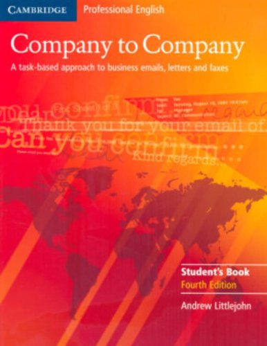 Company to Company 4th Student's Book (Cambridge Professional English)