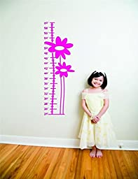 Top Selling Decals - Prices Reduced : Flower Growth Chart Picture Art - Kids Bed Room - Peel & Stick Sticker - Viny...