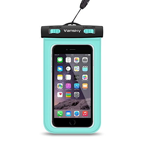Custodia Impermeabile, Vansky® Borsa impermeabile Cellulare universale,Custodia Subacquea Waterproof Custodia, Case impermeabile per iPhone 6s/ 6s plus/ 6/ 6 plus/ 5s/ 5c/ 5, Samsung s6/ s6 edge/ s5/ s4, ed altri Smartphone, ecc; Toccare Responsive trasparente di Windows; Durable Waterproof Bag, IPX8 certificato a 100 Feet (Verde)