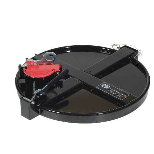 """New Pig Drm1033 Powder Coated Steel Vapor Control Latching Drum Lid, 26-3/4"""" Length X 23-1/4"""" Width X 7-1/4"""" Height, Black, For 55 Gallon New And Reconditioned Open-Head Steel Drums front-133445"""