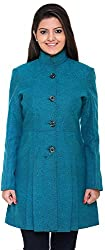 300 BC Women's Coat (BC12009GREEN, Green, L)