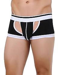 Xuba Men's Cotton Trunk (XB1411206002_Black_XL)