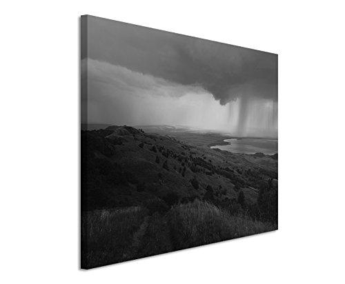 50x70cm Leinwandbild schwarz weiß in Topqualität Kaukasus Natur Landschaft