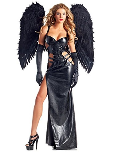 Lady Favorite Costumes Women's Dark Angel Gothic Vampire 2 In 1