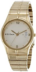 Titan Karishma Analog Gold Dial Mens Watch - ND9314YM02A