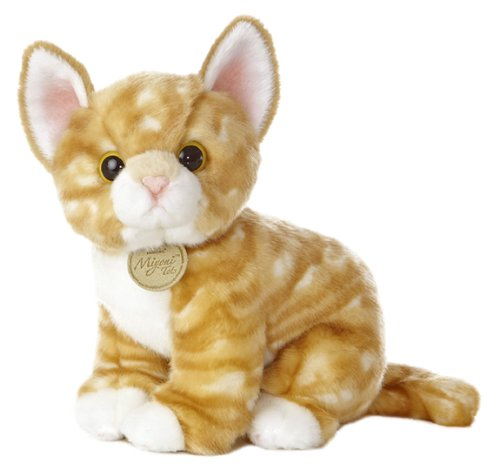"Aurora World Miyoni Tots Orange Tabby Kitten 10"" Plush"