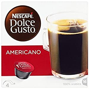 Choose Nescafé Dolce Gusto Caffè Americano 16 Capsules (Pack of 3, 16 capsules x 3 = 48 capsules/coffee pods ) - Nescafe