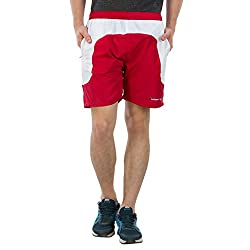 Burdy Solid Men's Red Sports Shorts