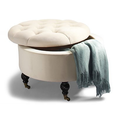 Amazing How Do I Collette Tufted Storage Ottoman Gold Frontgate Customarchery Wood Chair Design Ideas Customarcherynet