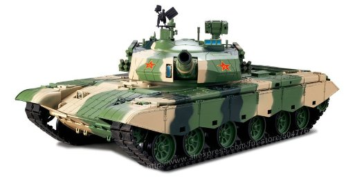 1/16 Scale Radio Remote Control Chinese ZTZ 99 MBT Tank Air Soft RC Battle Tank Smoke & Sound