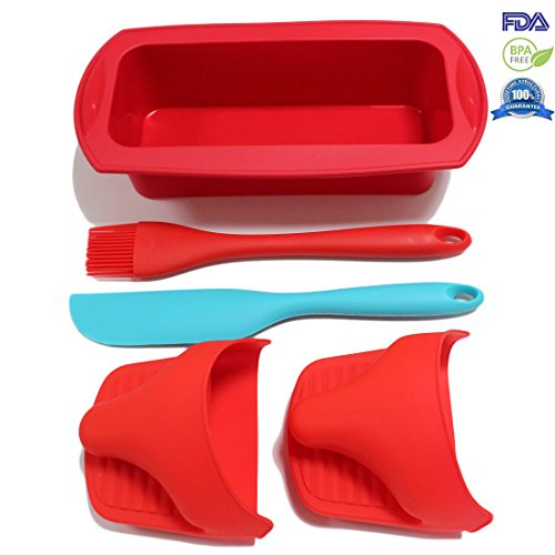 Fontaine 5 Pieces Cookware Utility Silicone Baking Tool Set