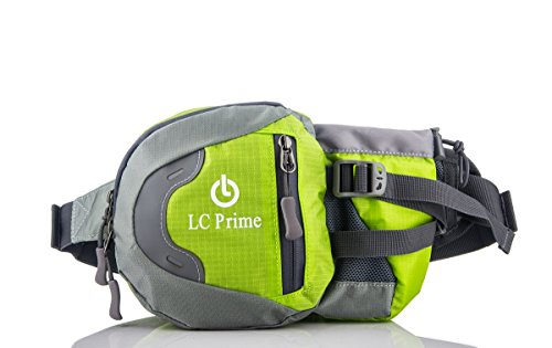 Waist-Pack-Fanny-Pack-Bum-Bag-Hip-Pack-Running-Bag-Waist-Bag-Running-Belt-Sack-Water-Resistant-with-Bottle-Not-Included-Holder-for-Hiking-Camping-Dog-Walking-nylon-fabric-multicolored-by-LC-Prime