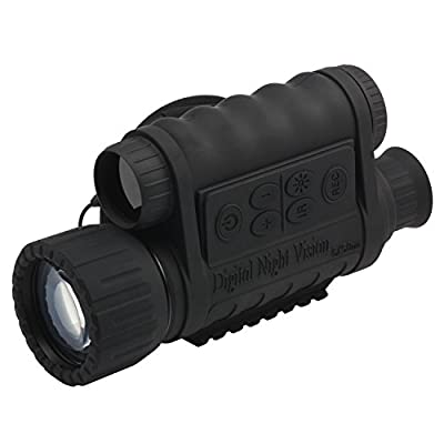 Bestguarder 6x50mm HD Digital Night Vision Monocular with 1.5 inch TFT LCD and Camera & Camcorder Function Takes 5mp Photo & 720p Video from 350m Distance for night watching or observation by Bestguarder