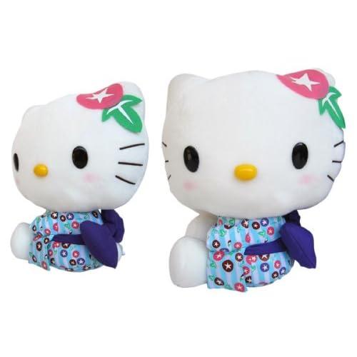 Geisha Hello Kitty Plush   Sanrio Hello Kitty 11 Inch Plush (Blue)