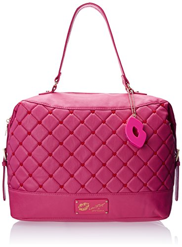 Luv Betsey by Betsey Johnson Touch My Heart Tote Handbag Shoulder Bag, Pink, One Size