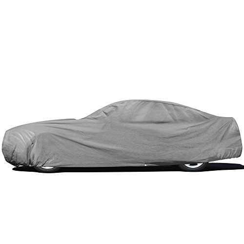 OxGord Superior Car Cover - Basic Out-Door 4 Layers - Tough Stuff - Ready-Fit / Semi Glove Fit - Fits up to 204 Inches (Car Outdoor Accessories compare prices)