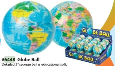 "Toysmith 3"" Globe Ball"