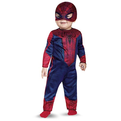 Disguise Marvel The Amazing Spider-Man Movie Infant Costume, Red/Blue/Black, 0-6 Months