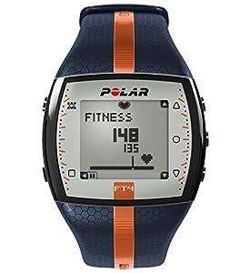 Polar FT4 blau/orange Fitnessuhr zur Messung der Herzfrequenz