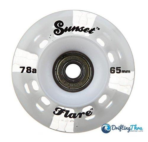 White Sunset Flare Led Longboard Skateboard Wheel Set (X4) 65Mm X 45Mm