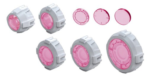 Bandai Hobby Builders Parts HD MS Sight Lens 01, Pink