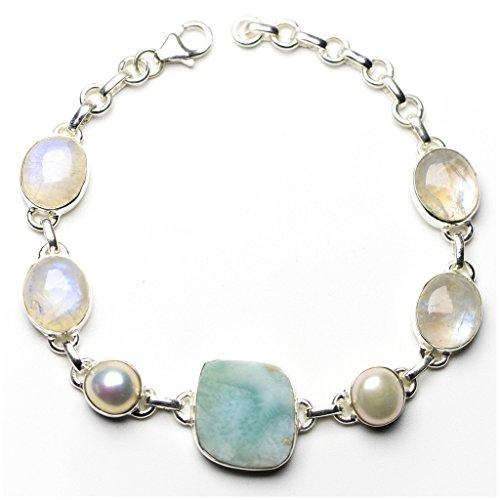 stargems-tm-naturel-caraibes-larimar-riviere-perle-et-pierre-de-lune-argent-sterling-925-bracelet-6-