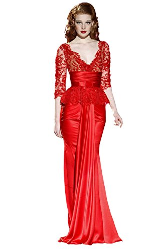 Nymph Dress Red Prom Dresses Lace Sexy Plus Size Formal ...