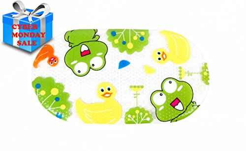 Non-slip Baby Bath Mat for Kids Frog and Duck - Great for Shower Stall & Bathtub Floor | Anti-Bacterial And Mildew/Mold Resistant |No Skid, PVC | Ideal For Parents & Children (Mat For Tub compare prices)