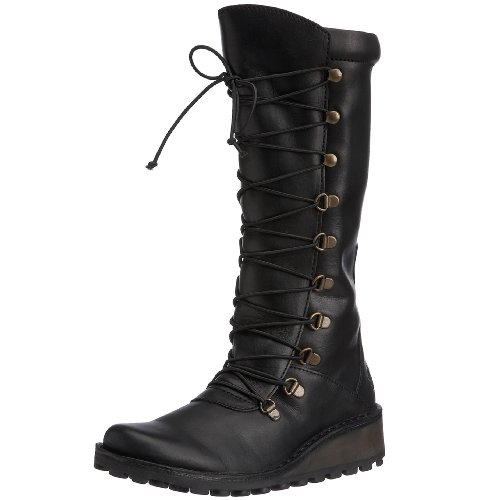 Fly London Women's Maos Boot Leather Black P210389027 6 UK