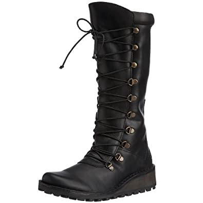 Fly London Women's Maos Boot Leather Black P210389027 4 UK