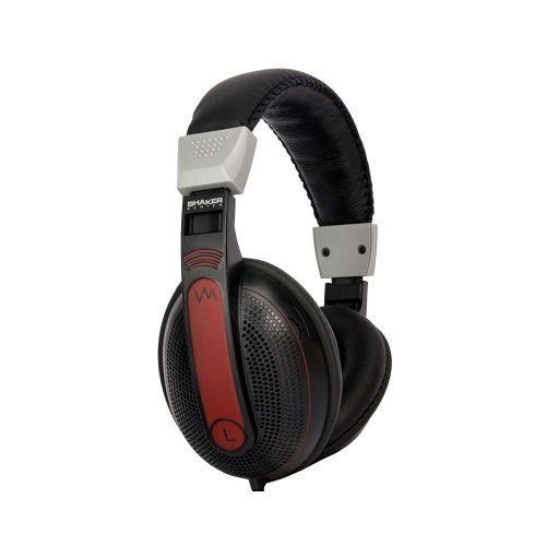 Vm Audio Srhp9 Stereo Mp3/Iphone Ipod Over Head On Ear Dj Headphones - Black/Red