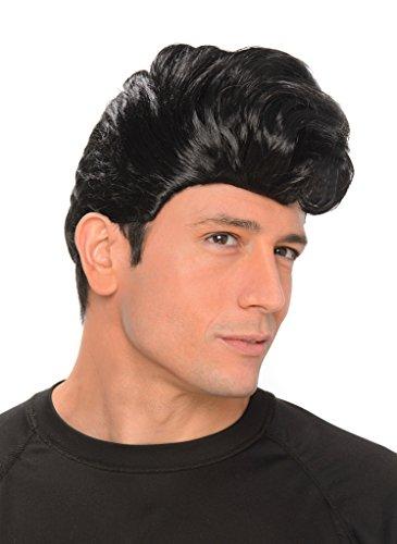 [Men's Black 50s Teddy Boy Rockabilly Rock & Roll Greaser Wig - Halloween] (Costume Conventions California)